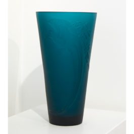Blue Cast Glass Vase